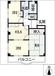 リバーマウスB棟[1階]の間取り