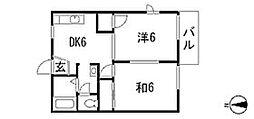 ガーデンハウスA棟[2階]の間取り