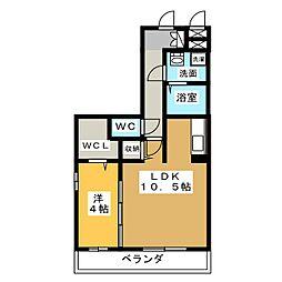 コンフォート桜[3階]の間取り
