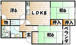 マストミマンション[1階]の間取り