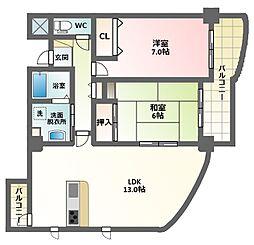 田辺大翔ビル[5階]の間取り