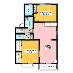 フォーレスいちこ C[2階]の間取り