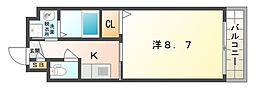 マンション・グラース[1階]の間取り