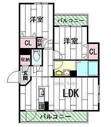 シャーメゾン翠風館[3階]の間取り