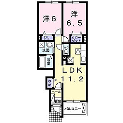 三重県三重郡朝日町大字小向の賃貸アパートの間取り