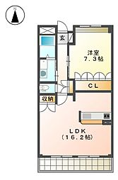 ガーデン斉宮司[3階]の間取り