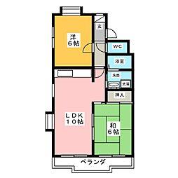 メゾン国枝[4階]の間取り