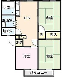 佐賀県唐津市和多田大土井の賃貸アパートの間取り