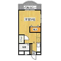福岡県北九州市若松区高須西1丁目の賃貸マンションの間取り
