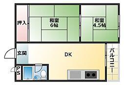 寿マンション[4階]の間取り