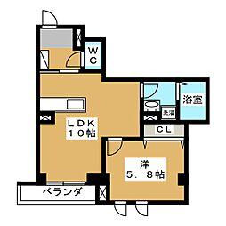 PALACE OGIKUBO 1階1LDKの間取り