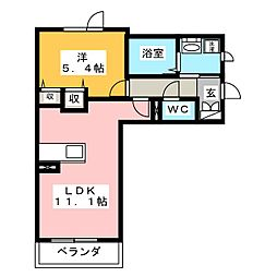 コンフォート名西[3階]の間取り