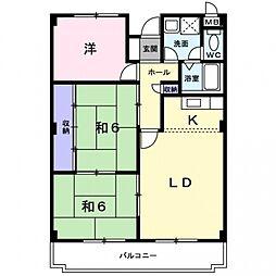 エスポワール茨木[3階]の間取り
