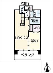 アンジュー VI[8階]の間取り