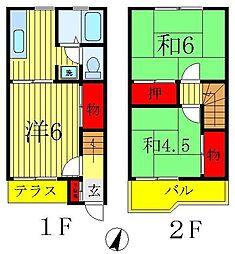 [テラスハウス] 千葉県松戸市中和倉 の賃貸【/】の間取り