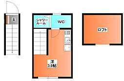 東京都北区赤羽西3の賃貸アパートの間取り