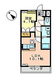 フォルトゥーナ・エス[105号室]の間取り