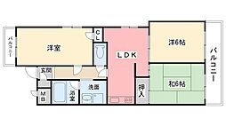 イオ甲子園1番館[1階]の間取り