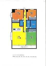 ロータスハウス5階Fの間取り画像