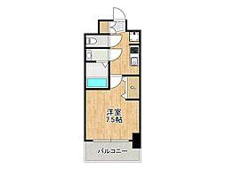プレサンス堺筋本町センティス 6階1Kの間取り