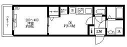 都営三田線 西巣鴨駅 徒歩2分の賃貸マンション 4階1DKの間取り