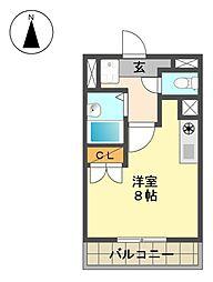 愛知県長久手市岩作中島の賃貸マンションの間取り
