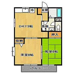千葉県船橋市夏見1丁目の賃貸アパートの間取り
