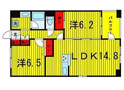 レクセルマンション上野松が谷[902号室]の間取り