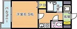 鷹の巣センチュリー21[5階]の間取り