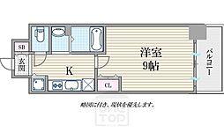 ララプレイスOSAKA WEST PRIME[10階]の間取り