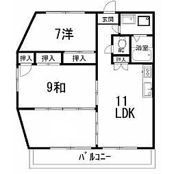 ロゼIII 1101号[11階]の間取り