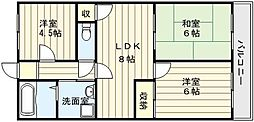 ファミール永田[3階]の間取り