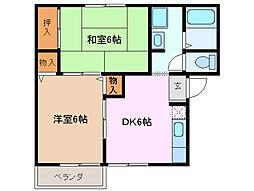 三重県四日市市伊倉3丁目の賃貸マンションの間取り