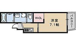 JR阪和線 我孫子町駅 徒歩1分の賃貸マンション 3階1Kの間取り