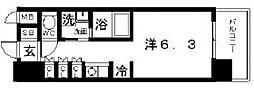 アークアベニュー天王寺[3階]の間取り