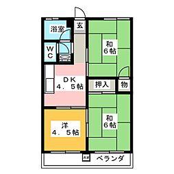 メゾン二村台[4階]の間取り