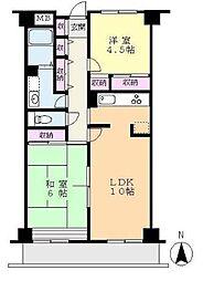 フレイスハイム2[4階]の間取り