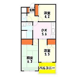 第二宝マンション[3階]の間取り