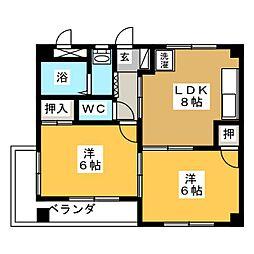 メゾン加藤[2階]の間取り