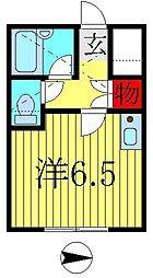 コーポ逆井[110号室]の間取り