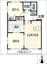 グレイスHOUMEI[1階]の間取り