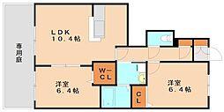 ラフィーネプロムナード3[1階]の間取り