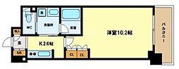 アクシオ梅田東[7階]の間取り