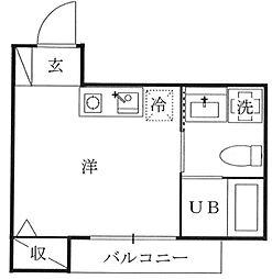 神奈川県横浜市保土ケ谷区和田2丁目の賃貸アパートの間取り