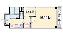 グルーブ三宮Aria[4階]の間取り