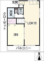 中島マンション[3階]の間取り