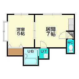 金盛マンション C棟[2階]の間取り