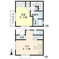 [テラスハウス] 東京都小平市学園西町2丁目 の賃貸【東京都 / 小平市】の間取り