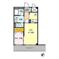 埼玉県川越市大袋新田の賃貸アパートの間取り