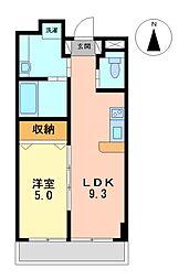 愛知県名古屋市中区栄5丁目の賃貸マンションの間取り
